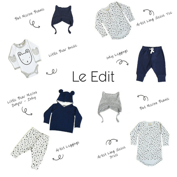 Le Edit 100% Merino Wool and !00% Cotton GOTs certified Cotton baby, toddler and childrens wear