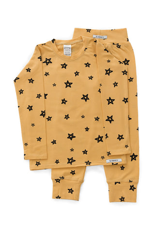 G.Nancy - Ochre Stars - Long Sleeve PJ Set