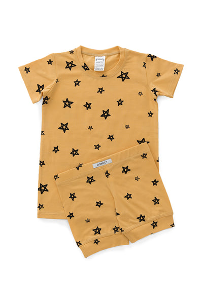 G.Nancy - Ochre Stars Shortie PJ Set
