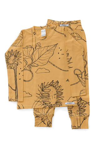G.Nancy - Ochre Sunflower - Long Sleeve PJ Set
