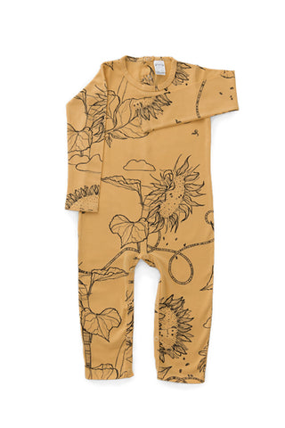 G.Nancy - Ochre Sunflower - Long Sleeve Romper