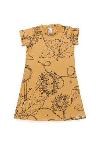 G.Nancy - Ochre Sunflowers - Short Sleeve Nightie