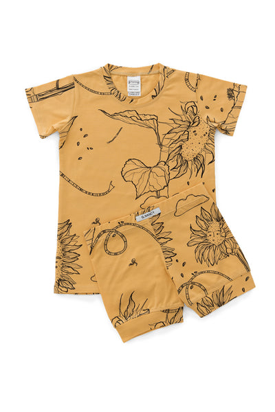 G.Nancy - Ochre Sunflower Shortie PJ Set