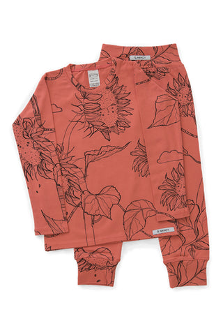 G.Nancy - Papaya Sunflower - Long Sleeve PJ Set