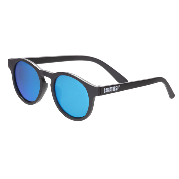 Babiators - Keyhole Polarized Sunglasses - Black with blue lenses