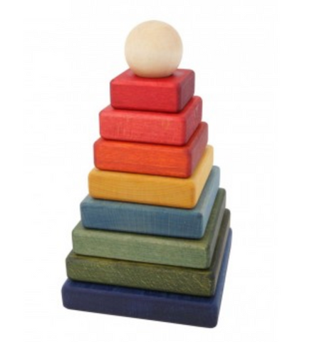 Wooden Story - Rainbow Pyramid Stacker
