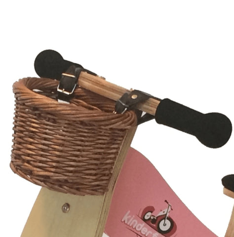 Basket - KINDERFEETS - BALANCE BIKE WICKER BASKET WITH STRAPS