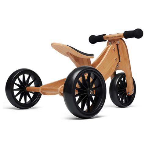 Kinderfeets - Tiny Tot Balance Bike - Bamboo **PREORDER END FEB**