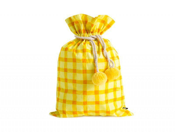 Christmas Sack - Sack Me - Swag - Yellow Gingham