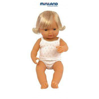 Miniland | Caucasian Girl Doll (38cm) **PREORDER END OF JAN**