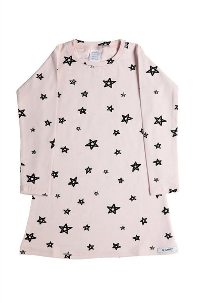 "Pajamas - G.Nancy - Stars ""Rose"" Long Sleeve Nightie"