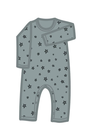 "Pajamas - G.Nancy - Stars ""Whale"" Long Sleeve Romper"