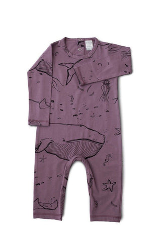 "Pajamas - G.Nancy - Under The Sea ""Jellyfish"" Long Sleeve Romper"
