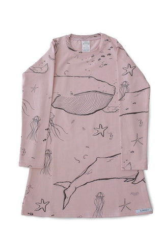 "Pajamas - G.Nancy - Under The Sea ""Rose"" Long Sleeve Nightie"