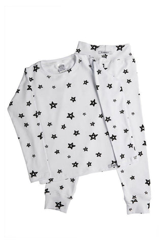 Pajamas - G.Nancy - White Star Long PJ Set