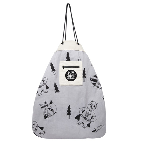 Play Pouch - Play Pouch - Super Bear Grey