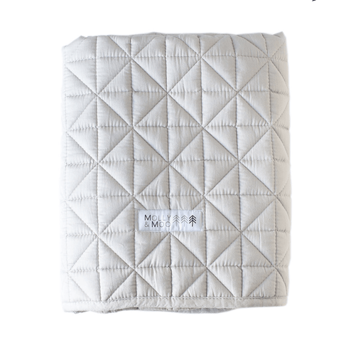 Playmat - MOLLY & MOO - QUILTED PLAY BLANKET – GREY