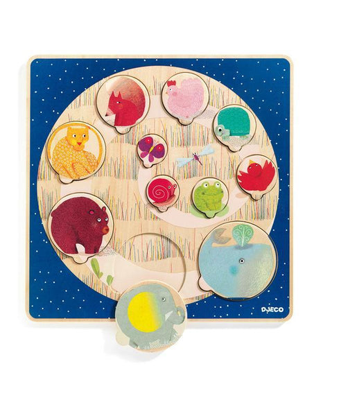 Puzzle - Djeco - Animal Circle Wooden Puzzle