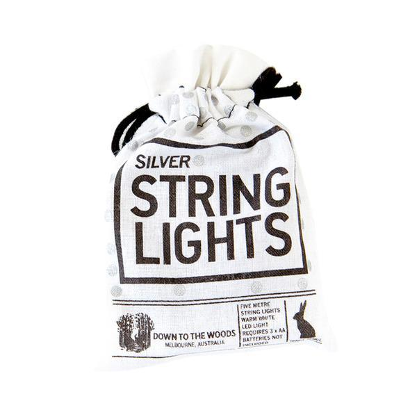 String Lights - Down To The Woods - String Lights Silver Batteries 5m