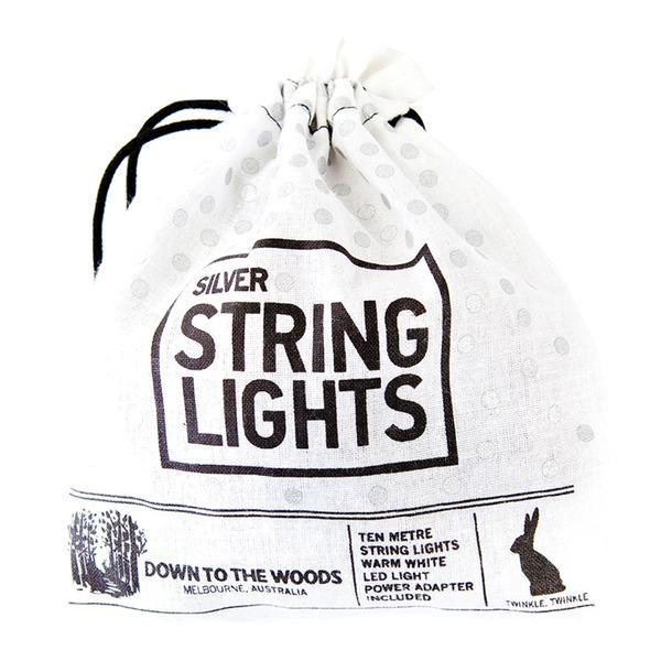 String Lights - Down To The Woods - String Lights Silver PlugIn 10m