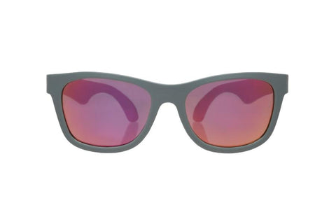 Sunglasses - Babiators - Aces - Black Navigators With Pink Lenses