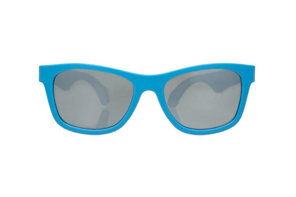Sunglasses - Babiators - Aces - Blue Navigators With Mirrored Lenses