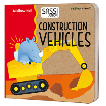 Construction Vehicles & Shapes Book