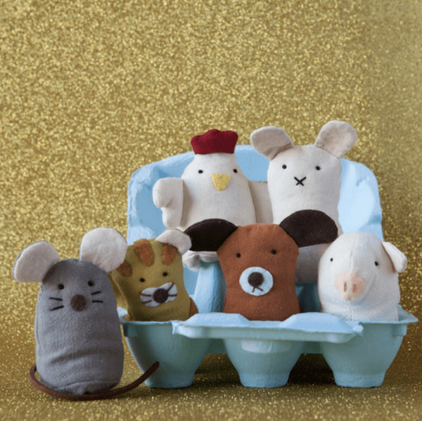 Wooden Toys - Down To The Woods - Farm Animals Finger Puppets