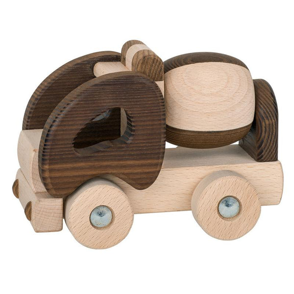 Wooden Toys - GOKI - Natural Cement Truck