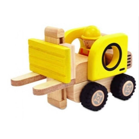 Wooden Toys - I'M TOY - Wooden Road Vehicle - Forklift