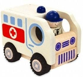 Wooden Toys - I'M TOY - Wooden Vehicle - Ambulance