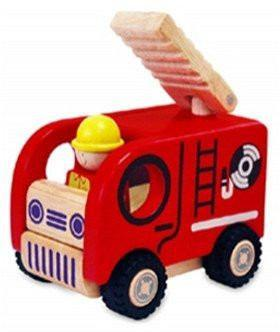 Wooden Toys - I'M TOY - Wooden Vehicle - Fire Truck
