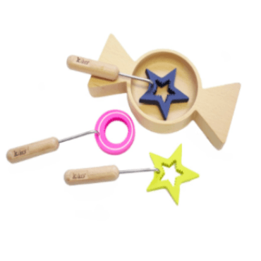 Wooden Toys - KIKO+ BY KUKKIA - AMECHAN WOODEN BUBBLE WAND SET