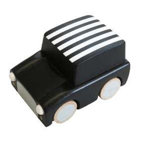 Wooden Toys - KIKO+ BY KUKKIA - KURUMA WOODEN CAR - BLACK STRIPE