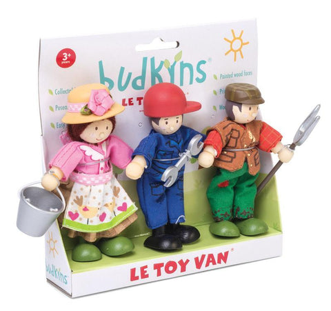 Wooden Toys - Le Toy Van - Budkin Famers (Set Of 3)