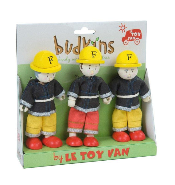 Wooden Toys - LE TOY VAN - BUDKIN FIREFIGHTER SET (SET OF 3)