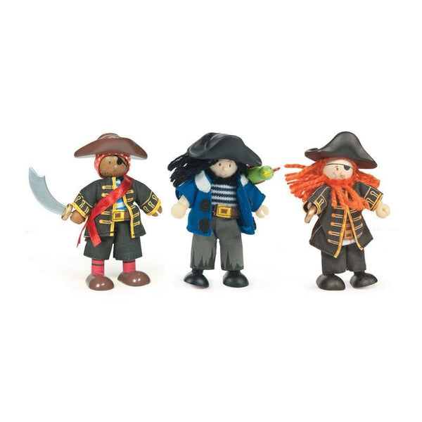 Wooden Toys - LE TOY VAN - BUDKIN PIRATES SET (SET OF 3)
