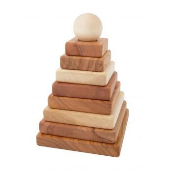 Wooden Toys - Wooden Story - Natural Pyramid Stacker