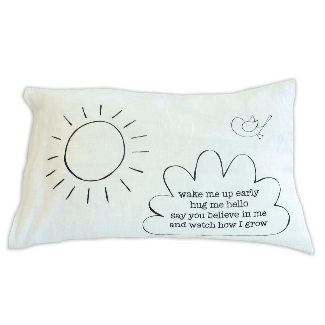 Small Pillow - double sided morning and night poems