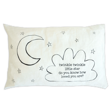 Load image into Gallery viewer, Small pillow - Twinkle Twinkle Little Star