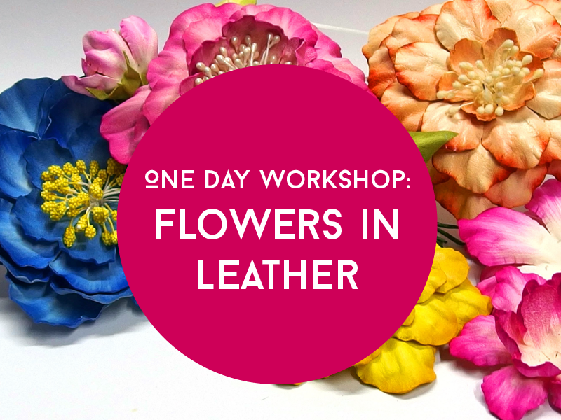 Leather Flower Workshop by Cherryl McIntyre at The Leather Shed