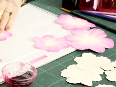 "Hat Academy Online Tutorial  D12  ""Peony Leather Flowers"" -Leather for Lesson"