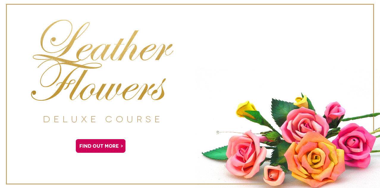 Leather Flowers online courses with Cherryl McIntyre