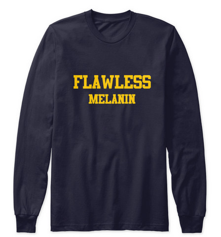 Flawless Melanin Raglan/Long Sleeve
