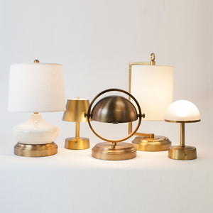 Our Favorite Brass Cordless Lamps for Your Home