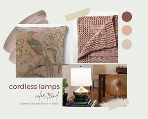 Cordless Lamps Color Trend: February 2021