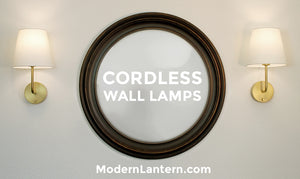 cordless rechargeable wall sconce lamps modern lantern