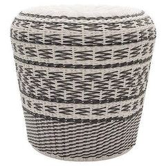gray and white garden stool