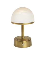 mini art deco cordless lamp frosted glass shade