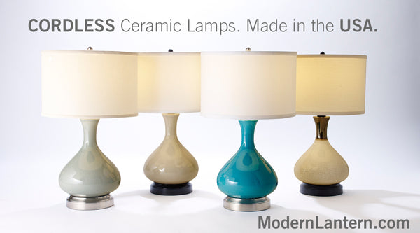Made in USA cordless lamps by Modern Lantern